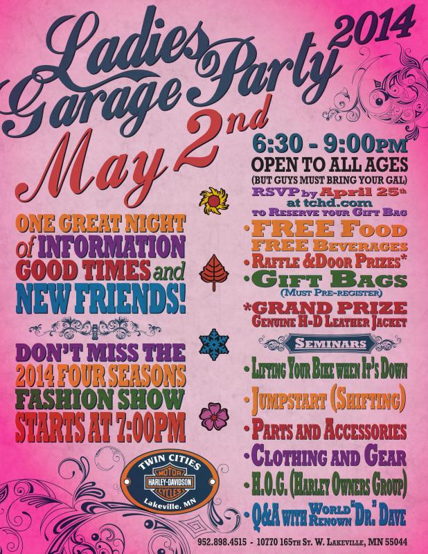 Garage Party flier